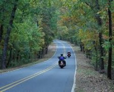 motorcycle on country road