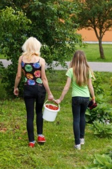 mother-and-daughter-walk-home